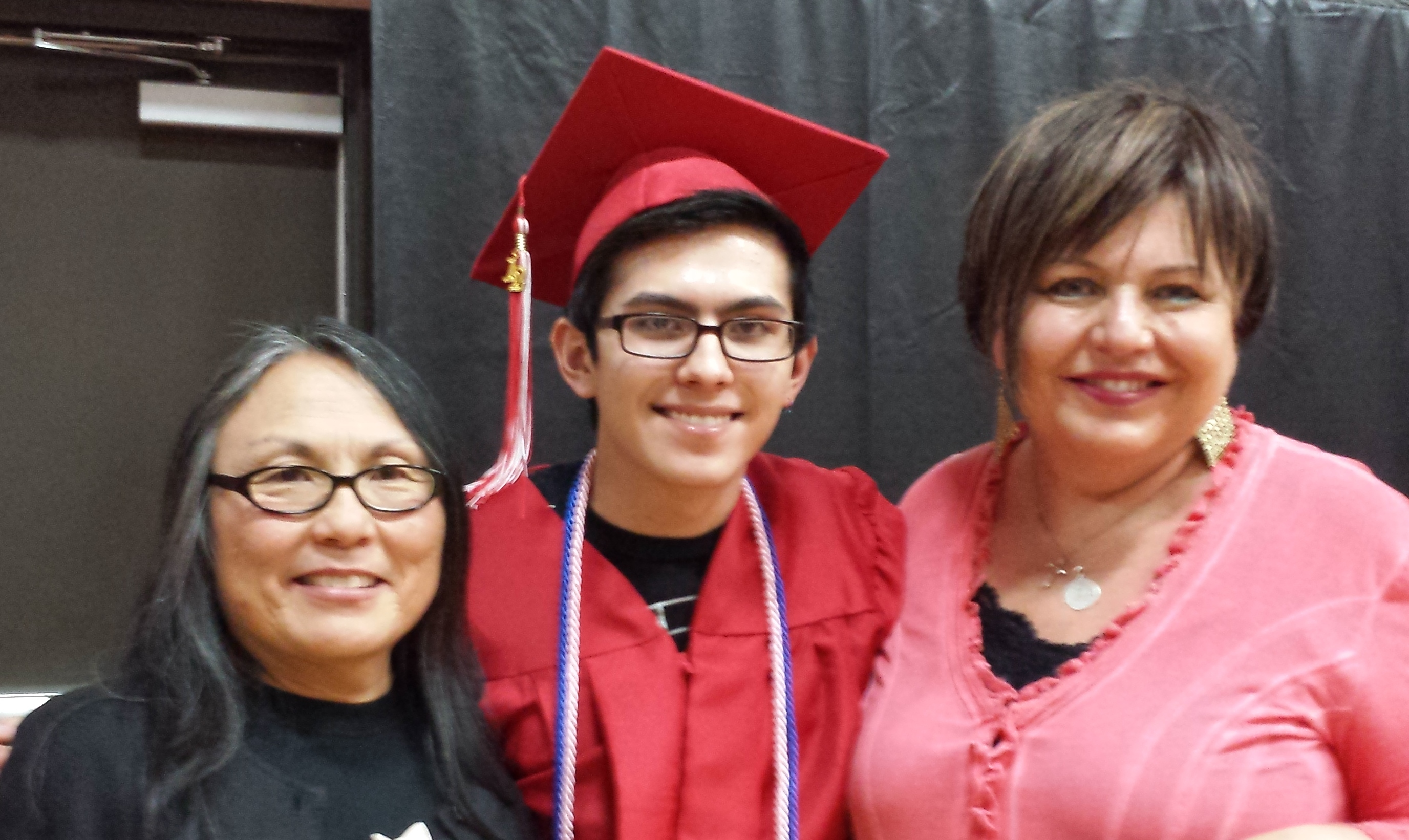 2014 Scholarship winner Randy Fukasawa, with WPCA Board members Kathleen Morrissey and Kathy Campbell