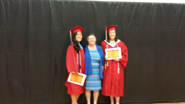 2016 Scholarship winners Hannah Morrison and Bailee Dougherty, with WPCA Board Member Judy Harden